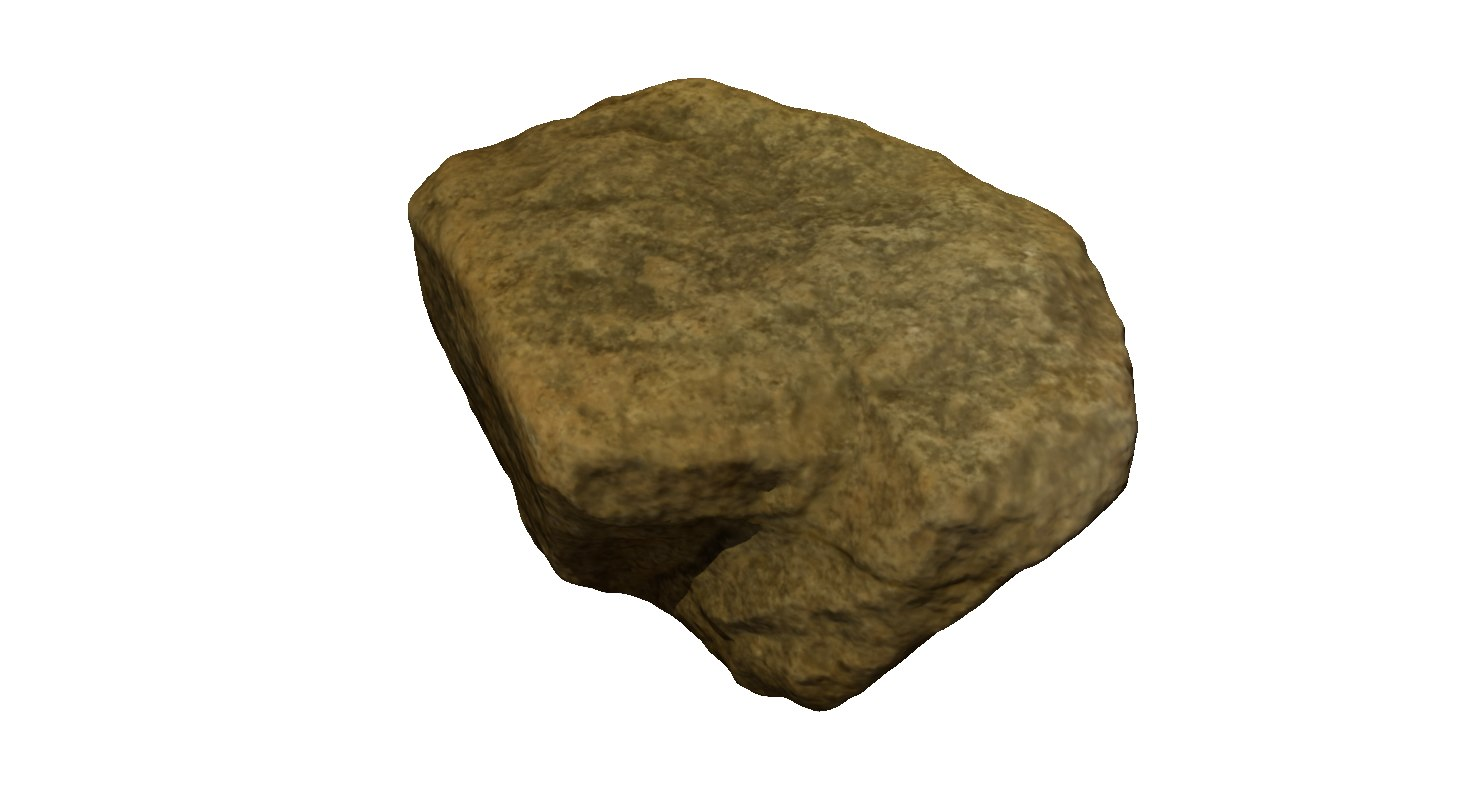 obj rock stone scan