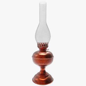 kerosene oil lantern lamp 3d 3ds