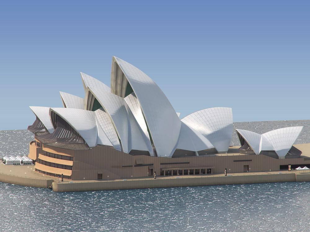 3d model sydney opera house