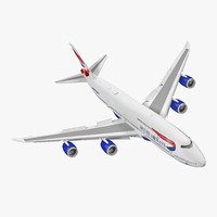boeing 747-8i british airways 3d max