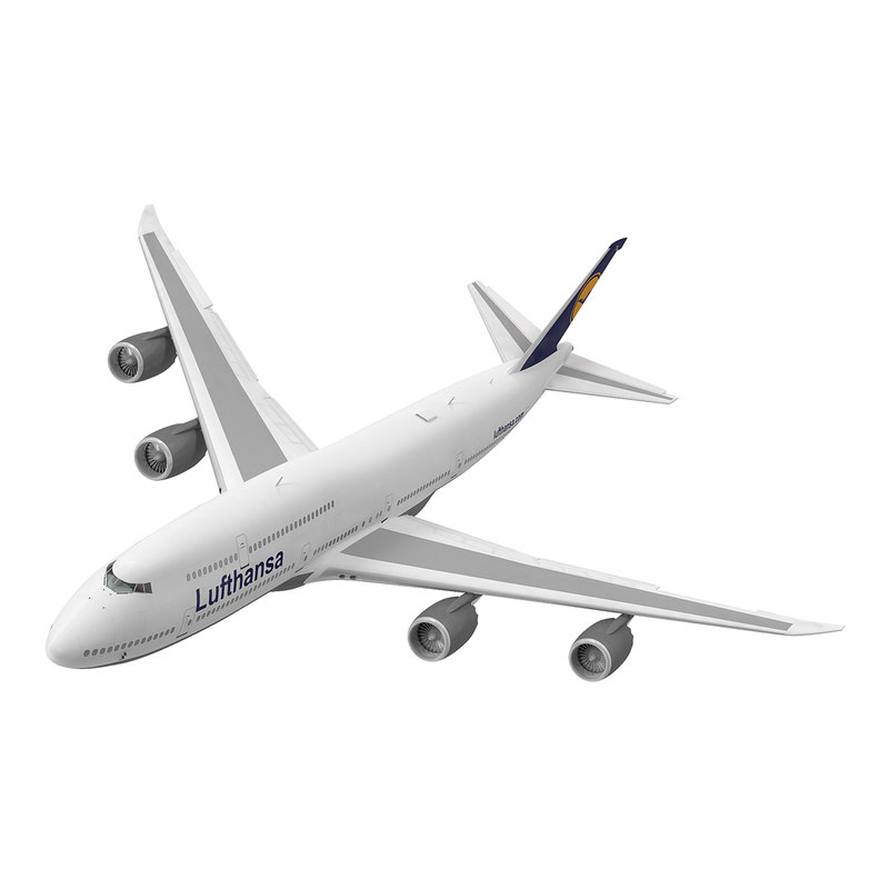 3d model boeing 747-8i lufthansa rigged
