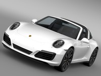 3d model porsche 911 targa 4s