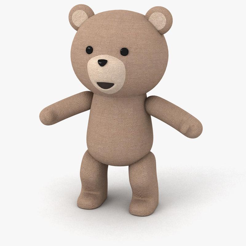 3d bear fabric toy