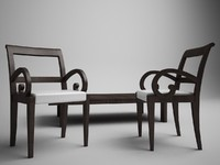 3d porada chair table model