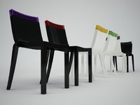 kartell hi cut chair 3d 3ds