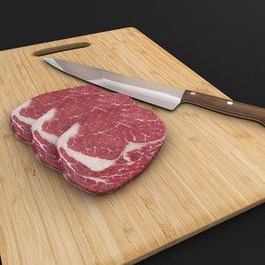 scene raw knife 3d model