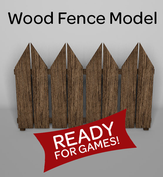 3d model wood fence