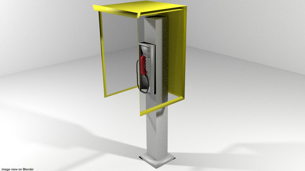 3d 3ds phonebooth booth modern