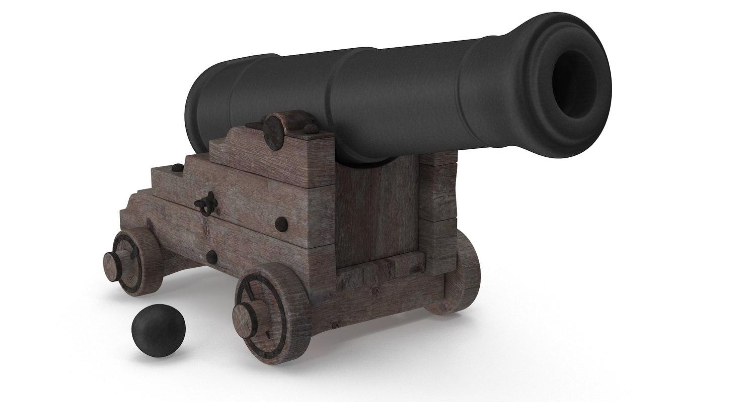 ship cannon 3d 3ds