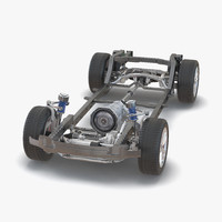 suv chassis frame 3 3ds