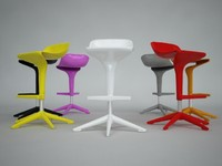 kartell chair 3d 3ds