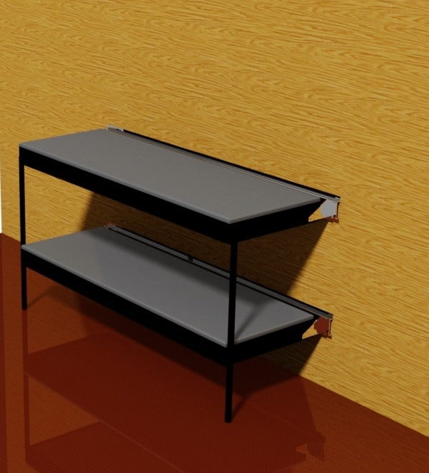 mounted bunk bed dwg