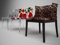 3d model kartell mademoiselle chair