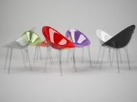 kartell mr impossible chair 3d model