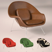 3d eero saarinen womb chair model
