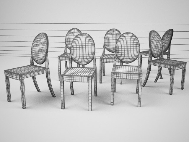Kartell Victoria Ghost Chair 3d Model