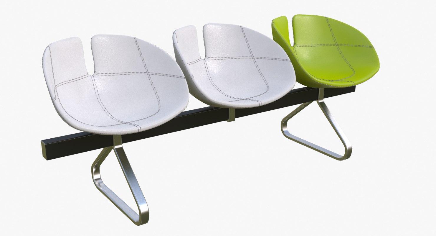 3d model fjord bench sistema