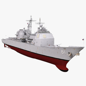 uss monterey cg-61 modeled 3ds