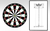3d model dart board score