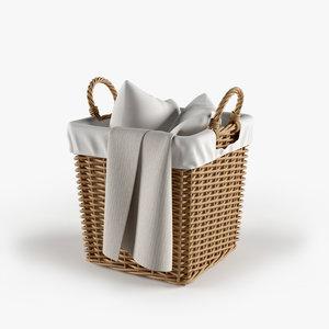 3d model basket pillows