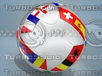 3ds euro 2016 teams ball