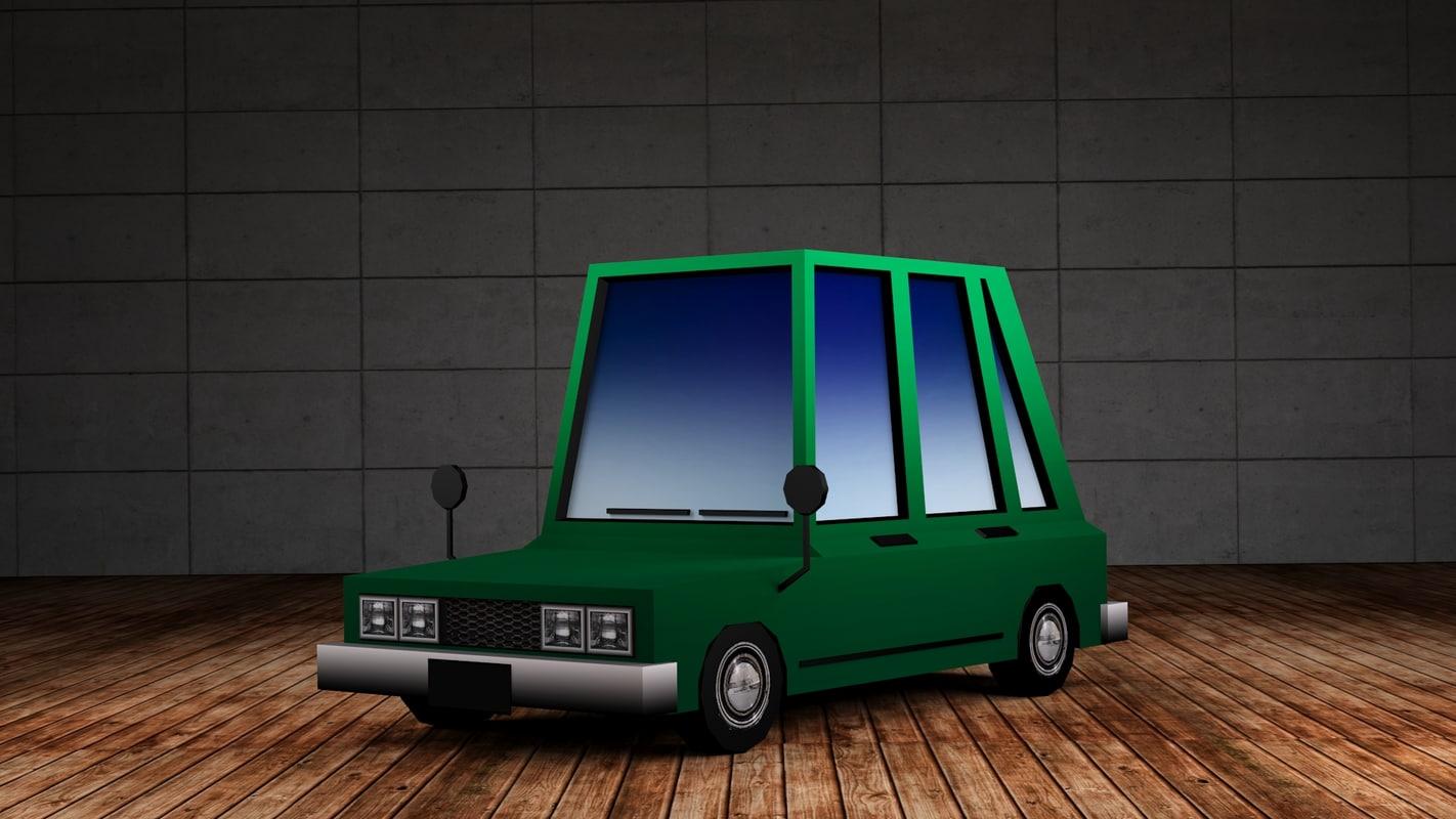 3d hatchback - cartoon cars