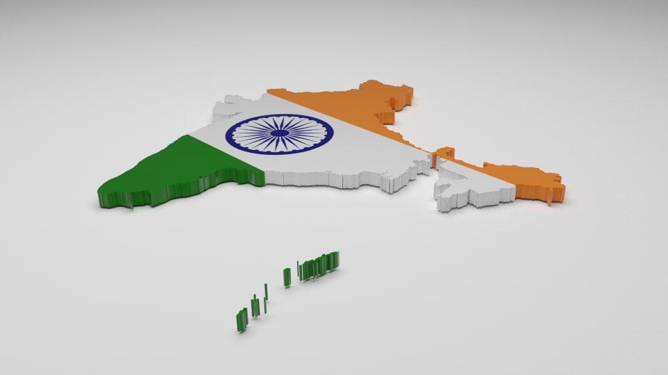 india flag 3d model