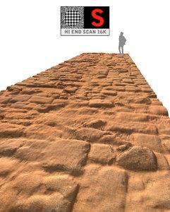 acient pavement 16k 3d obj