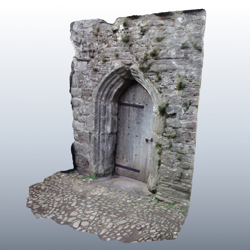 medieval scanned door 3d model