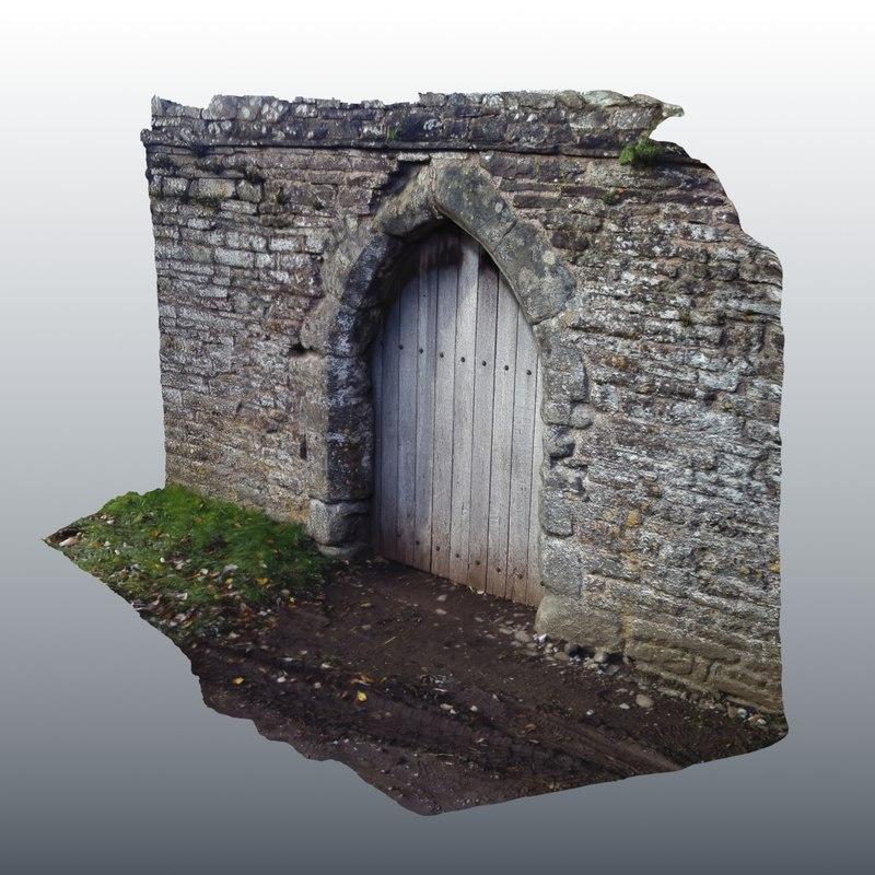 3d medieval scanned door