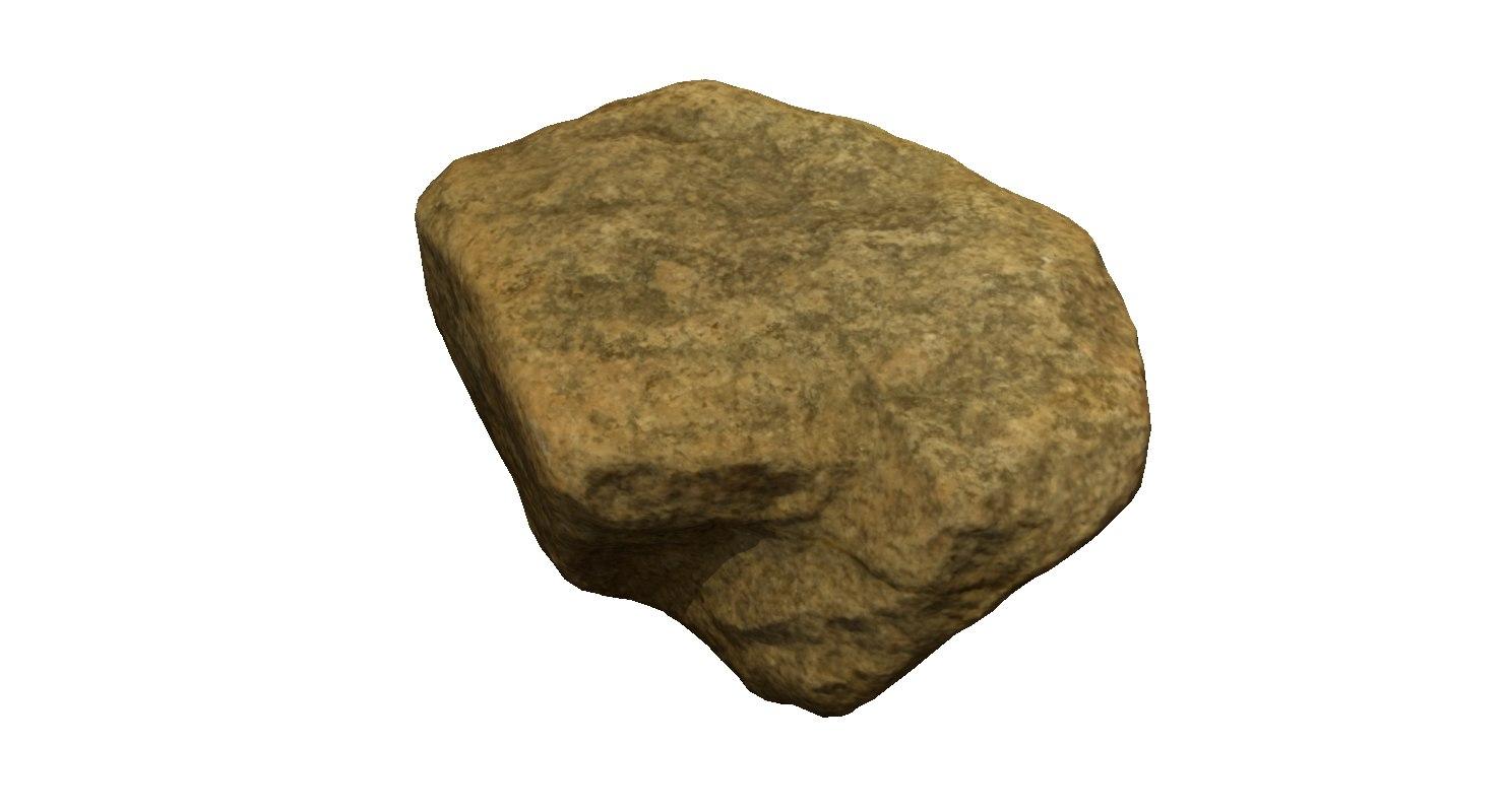 rock stone scan 5k 3d obj
