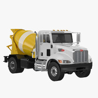 3d model small concrete mixer truck