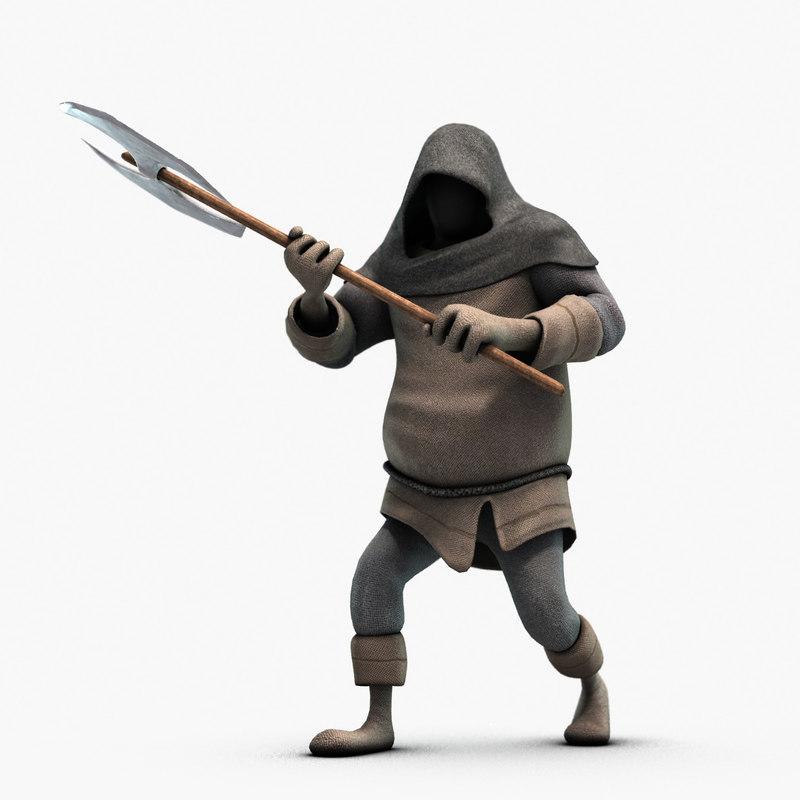 executioner rigged 3d model