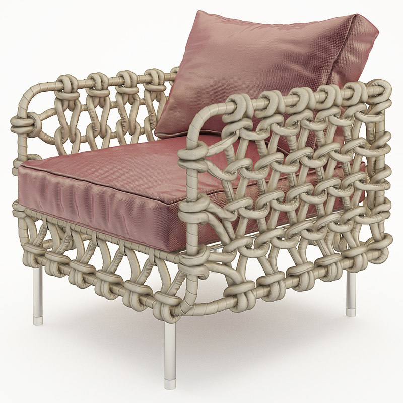 3d model of armchair kenneth cobonpue cabaret