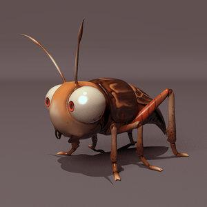 free rig cricket 3d model