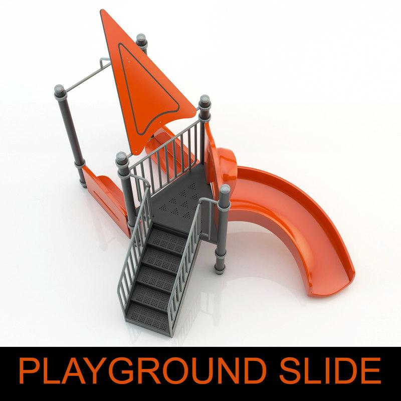 children playground slide child 3d model