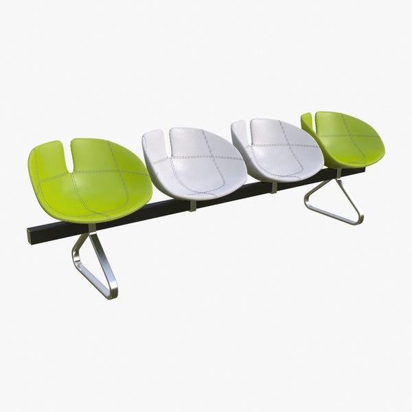 fjord bench sistema chairs 3d max