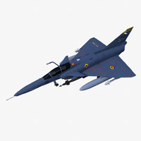 3d iai kfir fighter aircraft model