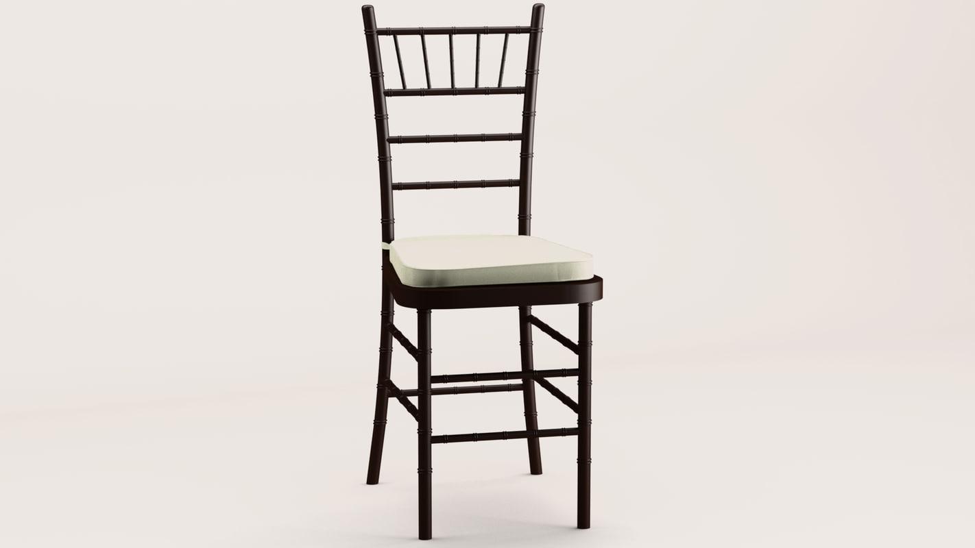 chiavari chair 3d 3ds