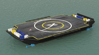 spacex barge drone max