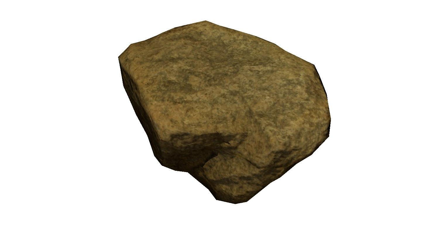 3d rock stone scan 5k model