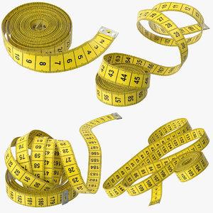 3d model tape measurer poses