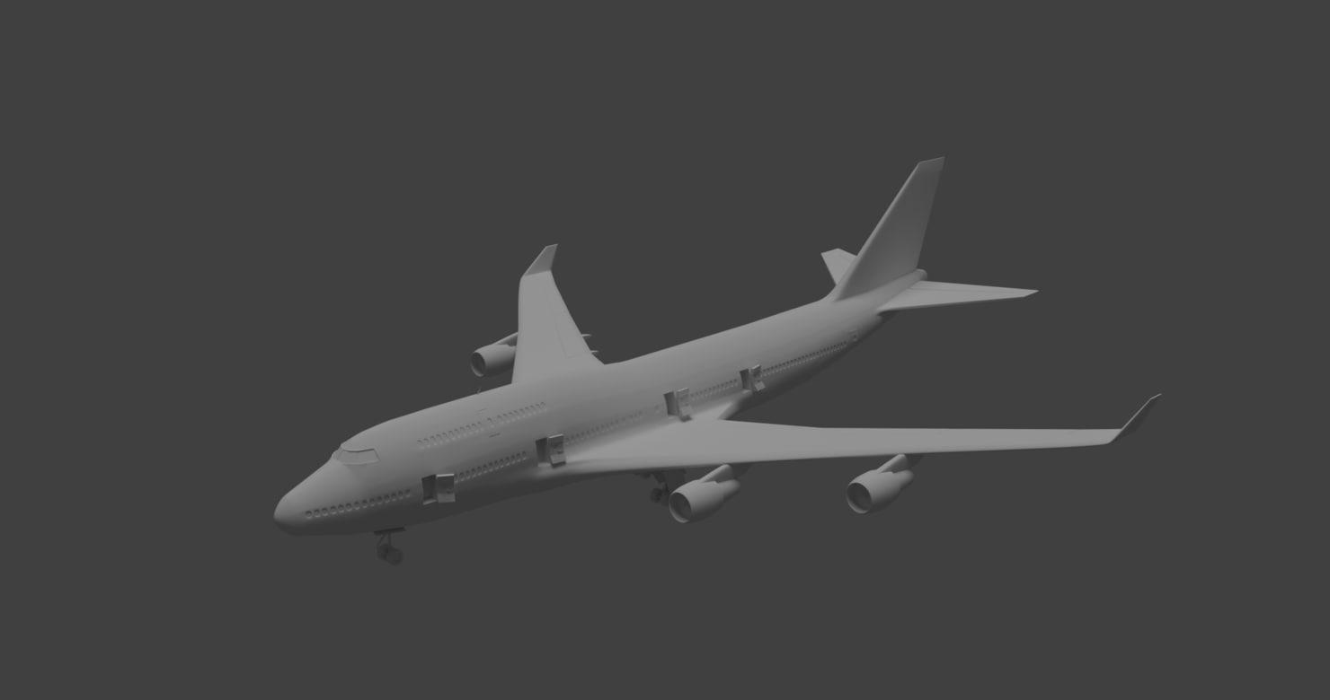 3d aircraft boeing 747-400 model