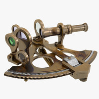 3d model old sextant