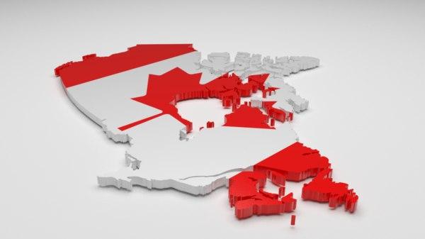 canada flag 3d model