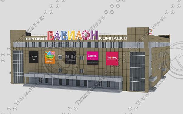 shopping center 3d max