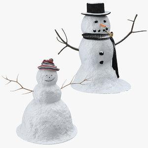 3d model snowmen snowman