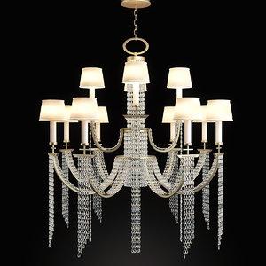 3d chandelier fine art