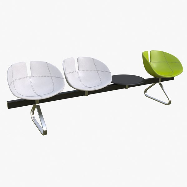 3d fjord bench sistema table model