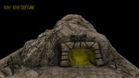 3d blend cave enterance
